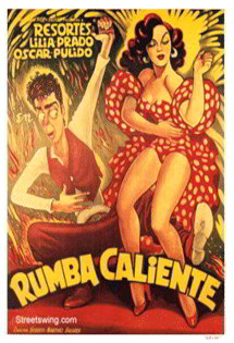 Featured: Rumba Caliente Vintage Dance Poster (1952)