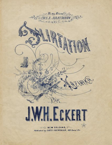 Flirtation Mazurka Sheet Music Cover