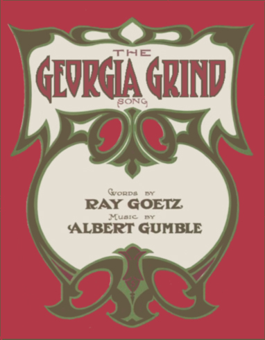 The Georgia Grind Song Sheet Music Cover