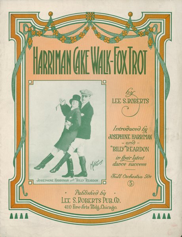 Harriman Cakewalk - Fox Trot Sheet Music Cover