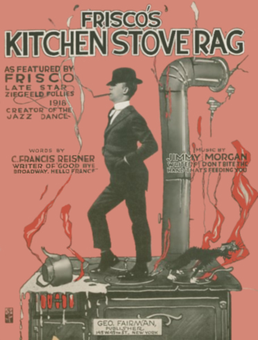 Frisco's Kitchen Stove Rag (1918) Sheet Music Cover