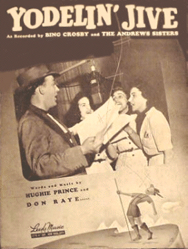 Yodelin' Jive sHEET mUSIC cover 1939