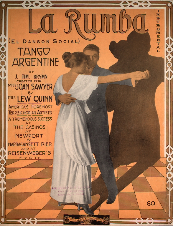 La Rhumba dance vintage sheet music cover