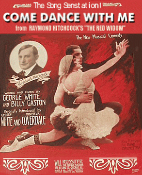 Come dance with me sheet music cover with George White and Minerva Coverdale