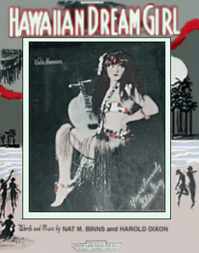 Hawaiian Dream Girl Sheet Music Cover faturing Gilda Gray