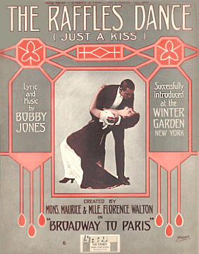The Raffles dance sheet music cover 1913