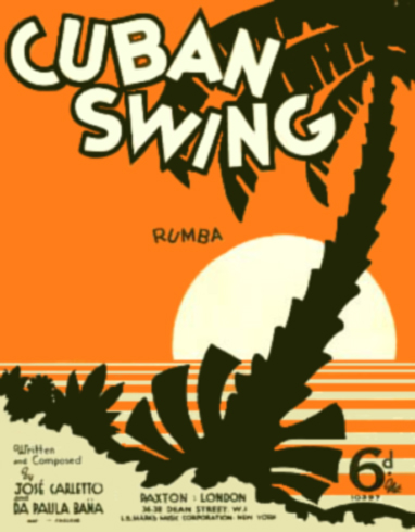 Cuban Swing Sheet Music Cover - Jose Carletto