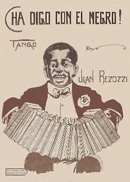 Cha Digo Con El Negro Tango Sheet Music Cover