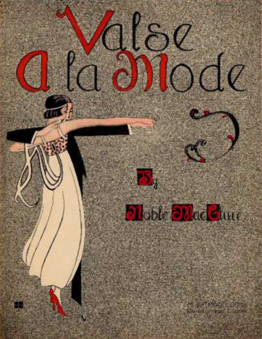 Valse A La Mode Sheet Music Cover