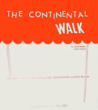 The Continental Walk Sheet Music Cover