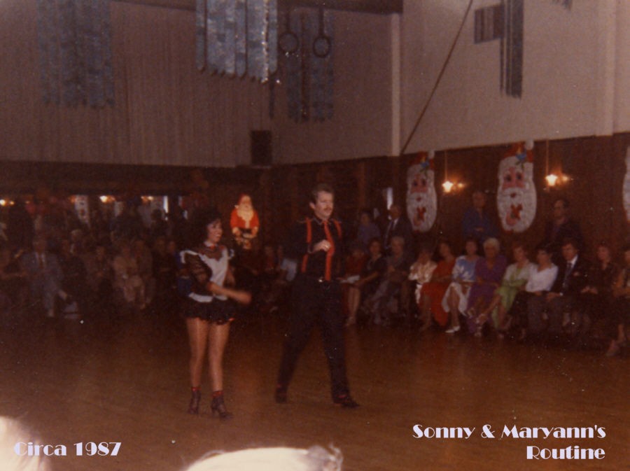 Sonny Watson and Mary Ann Nunez --- Our first dance routine