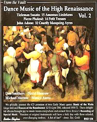 Featured CD: Dance Music of the High Renaissance, Vol.2