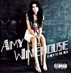 "Amy Winehouse CD Cover of Back to Black featuring ""Rehab"""