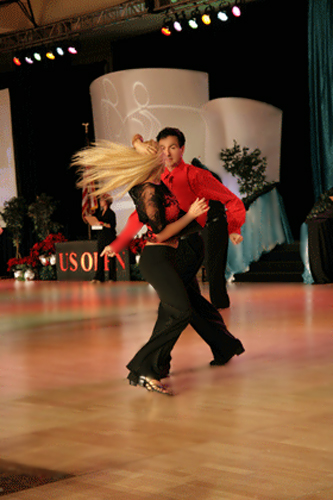 Deanna at the 2009 U.S. Open with Manny Viarreal