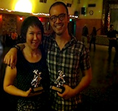 Winners of our 6 week progressive  WCS Jack & Jill Dnce Contest. Tanin Kosol & Patricia Lin
