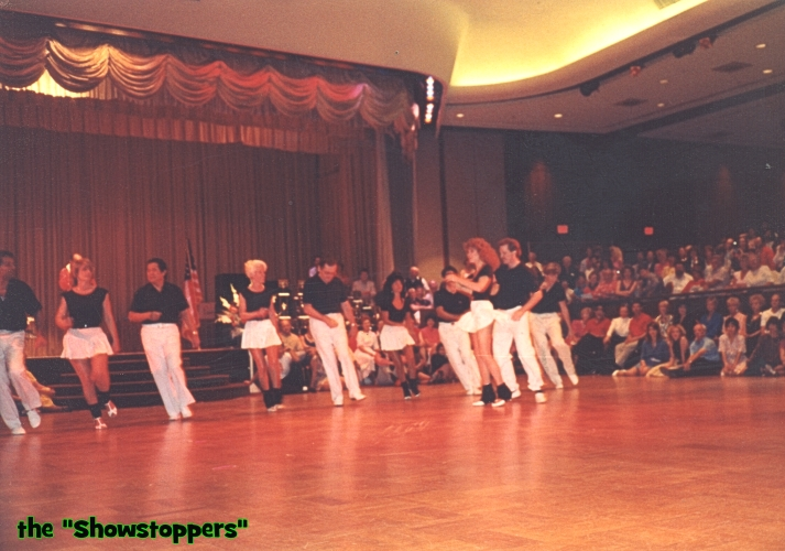 Showstoppers dance team. This Was the first ever 'team performance' at the US Open, we did it for two years