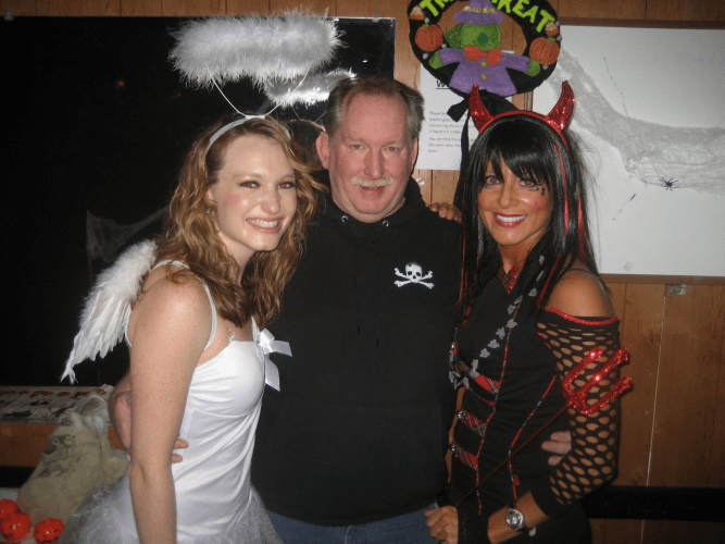 A Halloween at the Americna Legion Hall with Kelly Baker and Deanna Mollmann