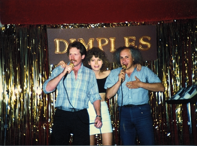 Sonny and Traci hosted a Kareoke WCS Night at Dimples in Burbank. Singing with Traci and Disco Dave Sarul