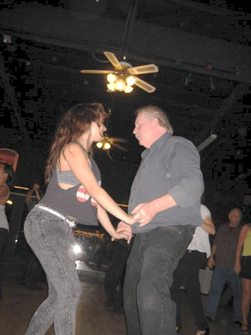 Sonny dancing with one of the Clonch sisters 2013