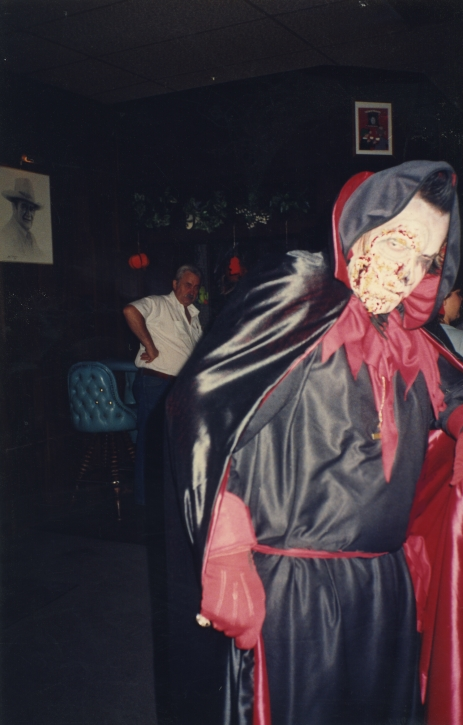 A Halloween party, I was Dracula