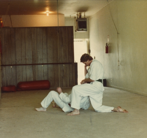 Getting my Butt handed to me whe I was doing Martial Arts, 'Kung-Fu San Soo' in Van Nuys, Ca. I was about 19 here
