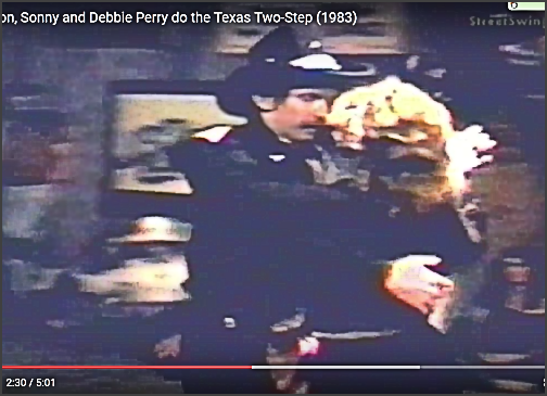 Circa 1983. Sonny Watson and Debbie Perry compete in the Texas Two-Step. 2nd Place