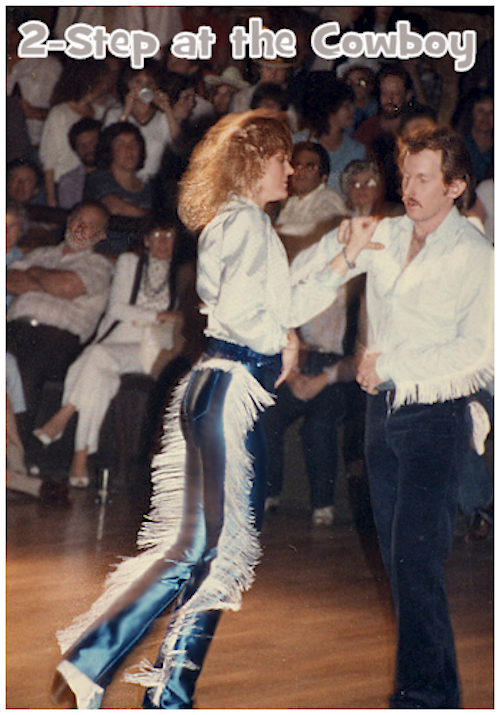 Sonny and Valerie compete in Country Two-Step Finals at the Cowboy in Anaheim, circa 1982