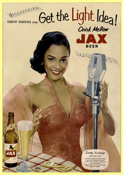 Models Page: Vintage Burlesque Models History Index List (Pictured: Miss Dorothy Dandridge) Listings