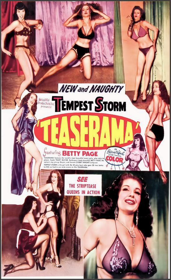 Burlesque History video clips Index List (Pictured: Teaserama Poster) Listings