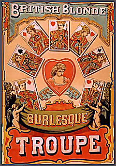 Burlesque Group Dance History Index List (Pictured: British Blonde Burlesque Troupe Poster) Listings