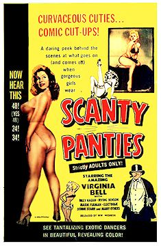 Scanty Panties with Virginia Bell Burlesque Poster 1