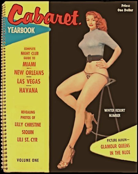 Betty Howard Burlesque dancer Cabaret Yearbook Cover photo