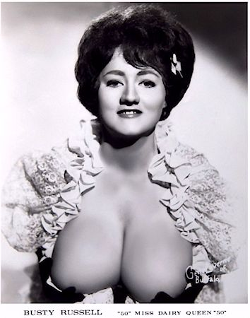 Busty Russell. Vintage Burlesque dancer photo 1