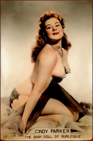 Cindy Parker. Vintage Burlesque dancer photo 1