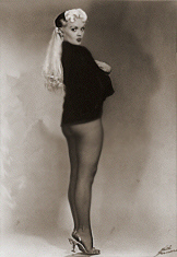 Shirley Jean Rickert as 'Glda' in her Burlesque Years