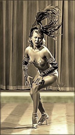 Helena Gardner Vintage Burlesque dancer photo 1