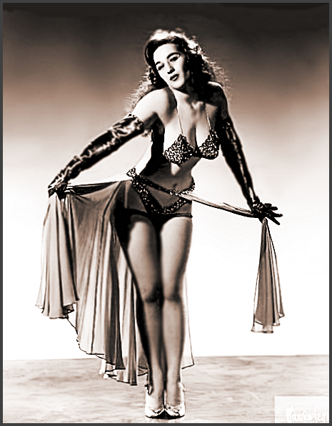 Page L: Vintage Burlesque Dancer History Index List L (Pictured: Stripper Crystal La Vegas) Listings