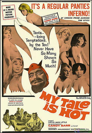 My Tale Is Hot is available on this DVD (Features Candy Barr). Filmed in Living 'SKIN-A-SCOPE'!