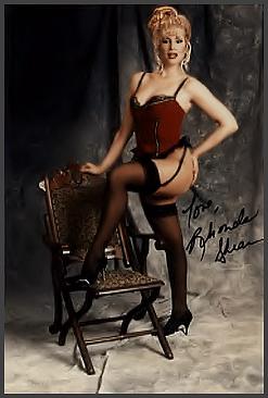 Neo Modern Burlesque Dancer History Index List (Pictured: Stripper Miss Rhonda Shear) Listings