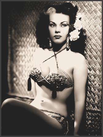 Page T: Vintage Burlesque Dancer History Index List T (Pictured: Burlesque Stripper Miss Tangoele) Listings