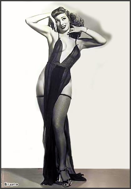 Page G: Vintage Burlesque Dancer History Index List G (Pictured: Stripper Winnie Garrett) Listings