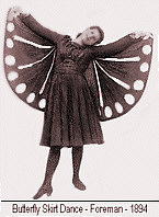 Photo of the Butterfly Skirt dance, circa 1894 from Foremans Book