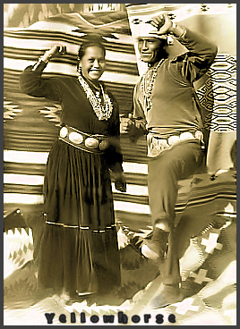 Page Y: Vintage Dancer History Index List Y (Pictured: Chief Yellowhorse dancing) Listings