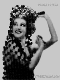 Dancer Rosita Ortega doing a Spanish Dance