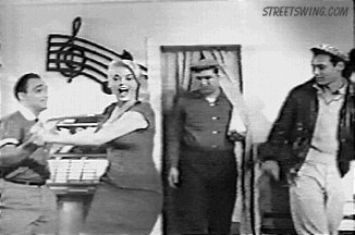 Dancer Actresss Sandra Giles dancing West Coast Swing in 1958 film Lost Lonely and Vicious