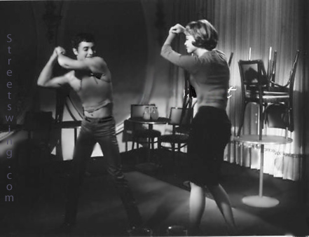 Juliet Prowse dancing with Sal Mineo