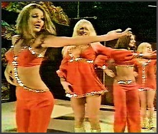 Page 8: Vintage Group Dancer History Index List (Pictured: Pans People) Listings