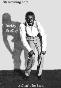 "Buddy Bradley demonstrating ""Ballin' the Jack"" circa: 1927 dance History"