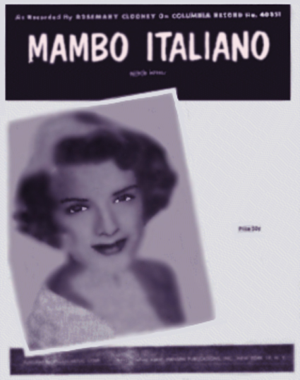 Mambo Italiano Sheet Music Cover by Rosemary Clooney