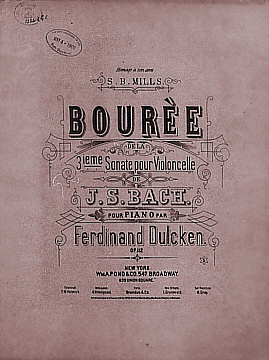 Bouree sheet music cover